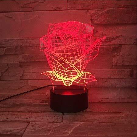 jiushixw 3D acryl nachtlampje met afstandsbediening kleurverandering lamp houten vrienden geven voeding of gebruik de eerste tandcrèmekleurige bijzettafel van de kamer