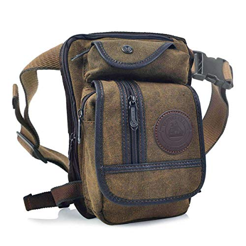 Huntforgold Herren Canvas Beintasche Hüfttasche Pack Leg Drop Utility Bag zum Sport...