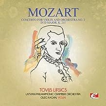 Concerto for Violin & Orchestra No. 2 in D Major K