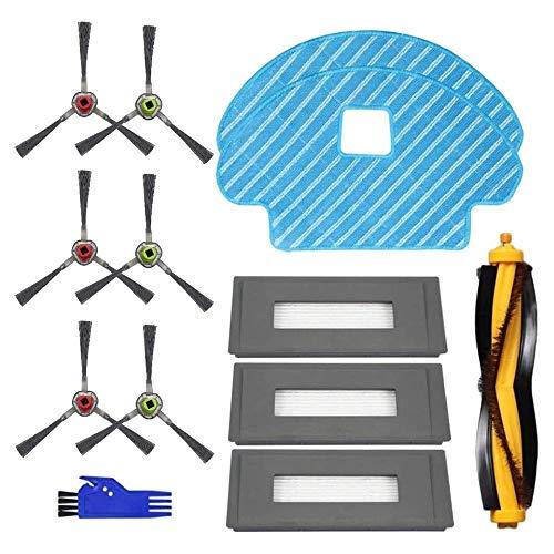 BOINN Ersatzteile für Deebot OZMO 930 Staubsauger - Filter- und MoppbüRstensatz - 13-Er Packung