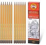 Koh-i-noor 12 lápices profesionales de grafito. 1500/2B