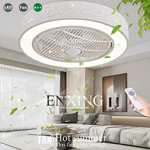 Fan Deckenleuchte Leise Fan Deckenventilator Mit Beleuchtung LED Mit Fernbedienung Dimmbar Fan Deckenlampe Kreative Modern Deckenleuchte Für Kinderzimmer Schlafzimmer Wohnzimmer Lüfter Licht