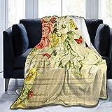 alice-shop Vintage Roses Shadow Ultra-Soft Cozy Micro Fleece Blanket, Ideal para...