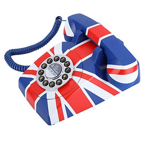 DAUERHAFT Teléfono de sobremesa de tamaño pequeño y Ligero, cómodo de Usar, para el hogar(American Line)