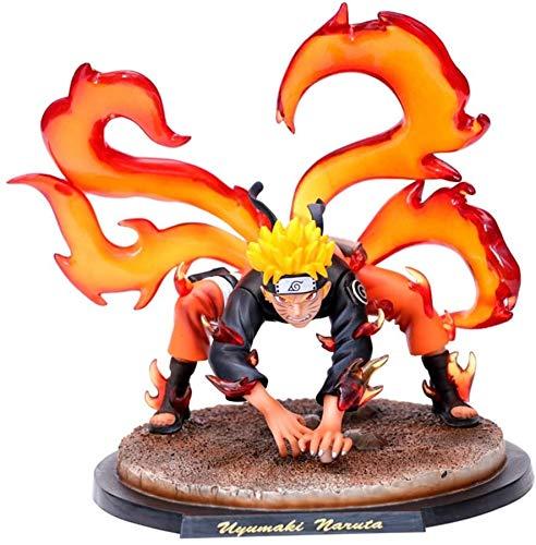 Estatua de Anime Figura de Anime Naruto Zorro de Nueve Colas Uzumaki Naruto Modelo de Personaje de Anime Muñecas