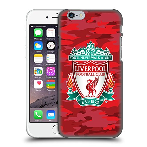Head Case Designs Offizielle Liverpool Football Club Home Crest Farben Camou Harte Rueckseiten Huelle kompatibel mit Apple iPhone 6 / iPhone 6s