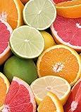 1art1 Kochkunst - Zitrusfrüchte, 2-Teilig Fototapete Poster-Tapete 250 x 180 cm