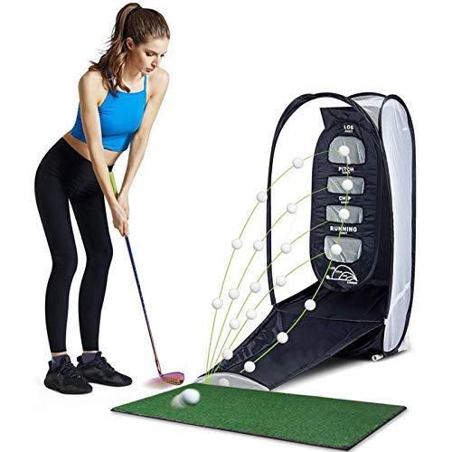 Bettying Golfschlagnetz Golf Elite Chipping Net Bundle Set Golfpraxis Golfpraxis Schlagnetz Tragbares Golfnetz für drinnen und draußen mit Schlagmatte
