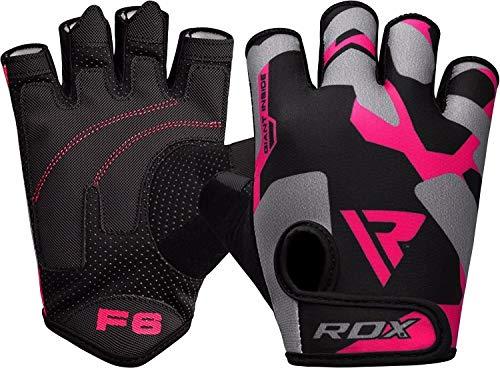 RDX damskie rękawiczki do podnoszenia ciężarów do treningu na siłowni - oddychające rękawice damskie z antypoślizgowymi ochroną dłoni - idealne do fitnessu, kulturystyki, trójboju siłowego, jazdy na rowerze i ćwiczeń