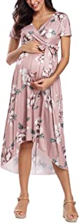 Liu & Qu Women's Casual Floral Maxi Dress Waist Tie V...
