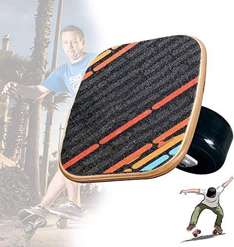 LHLYL-DP Placa portátil para Patines de Ruedas con Ruedas, Tabla de Deriva de Arce de 7 Capas con Rueda Altamente elástica, Mini patineta, para Deportes Extremos/Ejercicio al Aire Libre,Negro