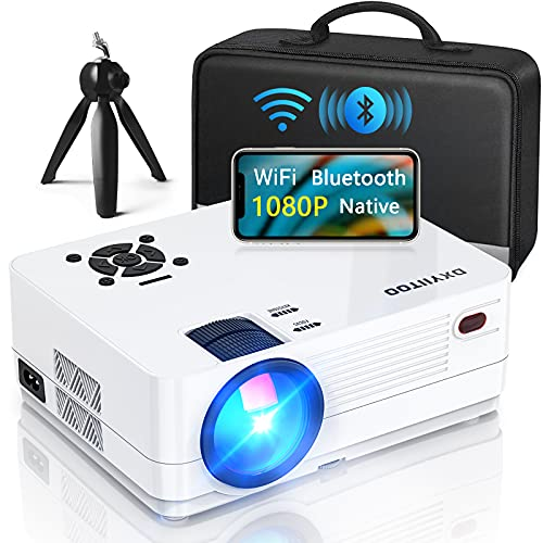 Native 1080P Projector with WiFi and Two-Way Bluetooth, Full HD Movie Projector for Outdoor Movies, 300' Display Projector 4k Home Theater, Compatible with iOS/Android/PC/XBox/PS4/TV Stick/HDMI/USB