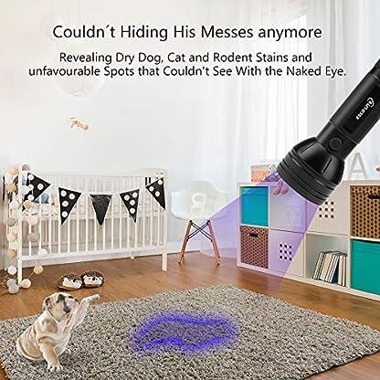 ESCO LITE UV Black Light, 51 395 nM Ultraviolet Blacklight Detector for Dog Urine, Pet Stains and Bed Bug, Led Flashlight 5