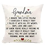 pinata Grandma Gifts Pillow Covers 18x18 Inch, Decorative Linen Pillow Case, Grandma Birthday Gifts from Grandkids, Square Couch Pillow Cover for Grammy, Nana