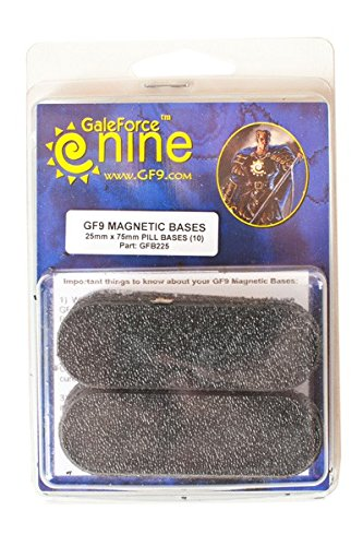 Gale Force 9 - MBS 25mmx75mm pill bases (10) - FWGFB225