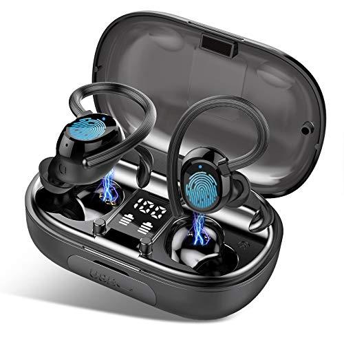 iporachx Bluetooth Kopfhörer Sport, In Ear Kopfhörer Kabellos, Noise Cancelling Stereo Headset Ohrhörer mit Intergiertem Mikrofon, IP7 Wasserdicht 100H Spielzeit, 2600mAh Ladebox, Touch Control