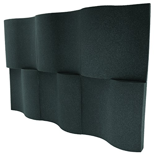 "Foamily 6 Pack - Decorative Acoustic Panels Studio Foam Waves 2"" X 12"" X 12"""