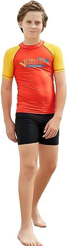 HOMELECT Combinaison Split Enfants Combinaison Maillot de Bain Split - Chemises Rash Guard, Prougeection UV, Séchage Rapide - Idéal pour la plongée sous-Marine Surf Surf Scuba Snorkeling