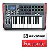 NOVATION ノベーション MIDIキーボード/コントローラー 25鍵 IMPULSE 25 オリジナルステッカー付きセット 【国内正規品】