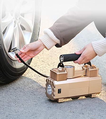 Éclairage LED De Gonfleur De Pneu De 180 W Électrique Portatif De La Pompe De Compresseur D'air Avec Des Adaptateurs Supplémentaires De Bec Pour Des Pneus De Vélo De Voiture Et D'autres Automobiles
