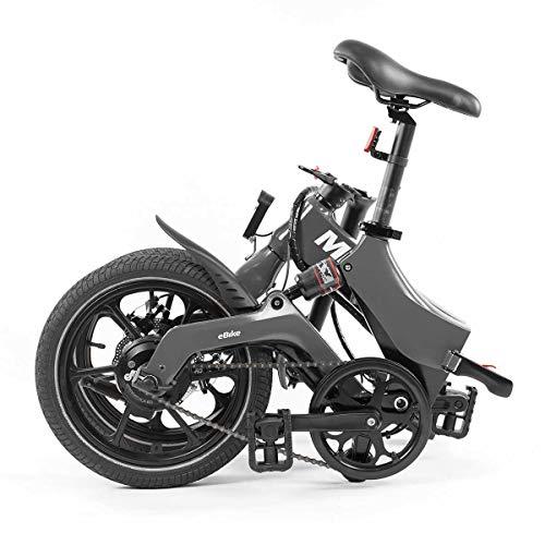 MiRiDER Bicicleta eléctrica plegable One de 16 pulgadas, unisex, para hombre y...