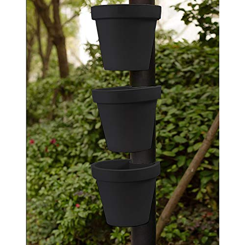 Drain Pipe Flower Pot Holder Sturdy Lightweight Garden Flower Pot, 3 KG Capacity (3 x Pipe Flower Pot)
