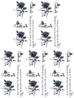 (ファンタジー) THE FANTASY タトゥーシール 薔薇 ロース Rose-9【小型・5枚セット】-7種類 (ht1117)
