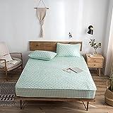 CYYyang Protector de colchón de bambú Funda de colchón y Ajustable Una Sola Pieza de sábana gruesa-18_90 * 190cm