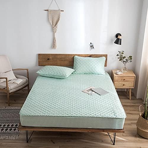 CYYyang Protector de colchón de bambú Funda de colchón y Ajustable Una Sola Pieza de sábana gruesa-18_200 * 220cm