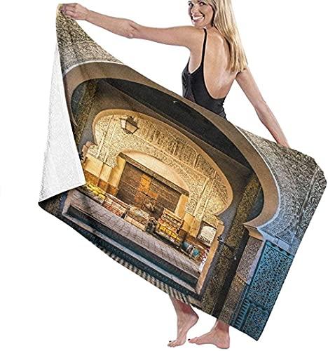 Telo Mare Grande 130 ×80cm, Tipica porta marocchina ,Asciugamano da Spiaggia in Microfibra Asciugatura Rapida,Ultra Morbido,Uomo,Donna,Bambina