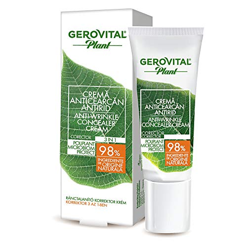 Gerovital Plant, Crema Anti-Ojeras Anti-Arrugas, Microbiom Protect, para todo tipo de pieles, 15 ml