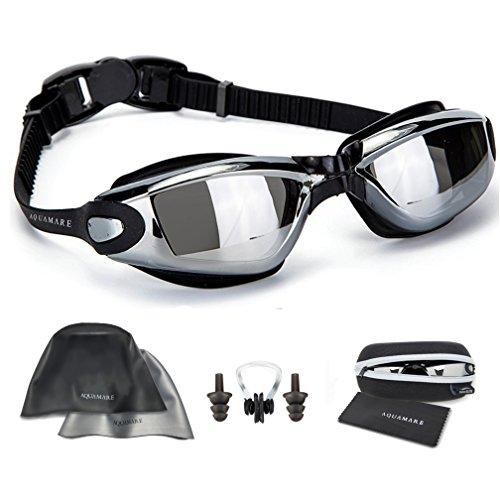 Gafas de natación de silicona y gorro...