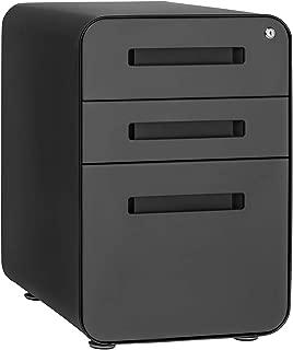 Stockpile 3-Drawer File Cabinet, Commercial-Grade (Black/Grey)