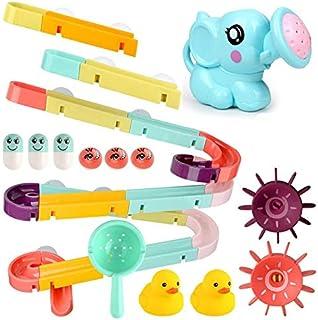DIY Baby Bath Toys Wall Suction Cup Marble Race Run Track Bathroom Bathtub Kids Play Water Games Toy Set for Children Bath...