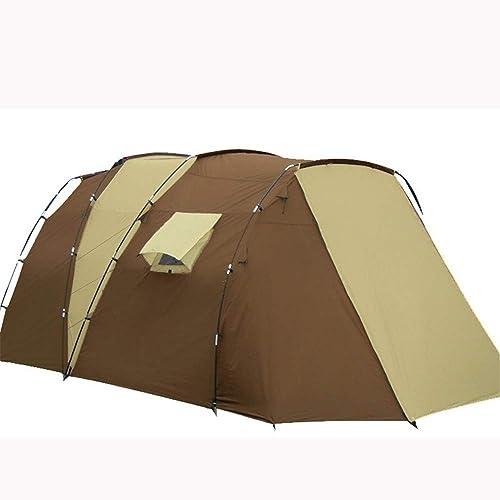 BestUr de plein airlife Tente en Plein Air Deux Chambres Une Chambre Multi-Personne Famille Double Couche Anti-Tempête Camping Tente de Camping