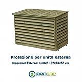Copertura in legno per unità esterna del condizionatore con coperchio amovibile