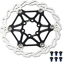 Bynccea 160mm 180mm Bicycle Floating Disc Brake Rotor with 6 Bolts Fit for Road Bike Mountain Bikes BMX MTB