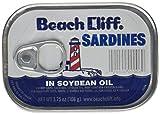 Beach Cliff Sardines in Soybean Oil, Ten 3.75oz. Cans