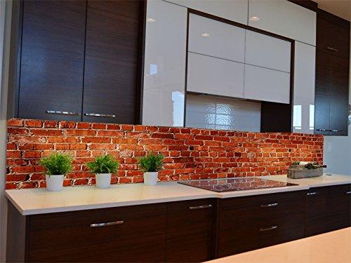 Dalinda® Küchenrückwand Küchenboard Küchenrückseite mit Design Klinkersteine KR071