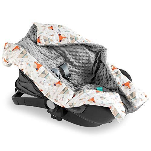 Navaris Babydecke Einschlagdecke für Autositz Babyschale - Baby Decke für Maxicosi...