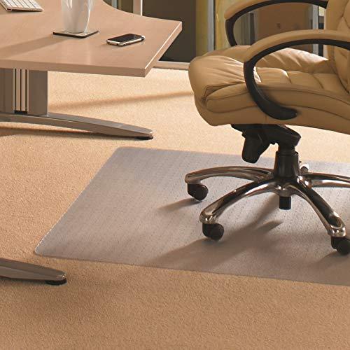 """Floortex FC1175120EV Bodenschutzmatte / Bürostuhlunterlage \""""advantagemat\"""", 120 x 75 cm, aus phtalatfreiem Vinyl, transparent, rechteckig, TÜV zertifiziert, für niederflorige Teppichböden"""