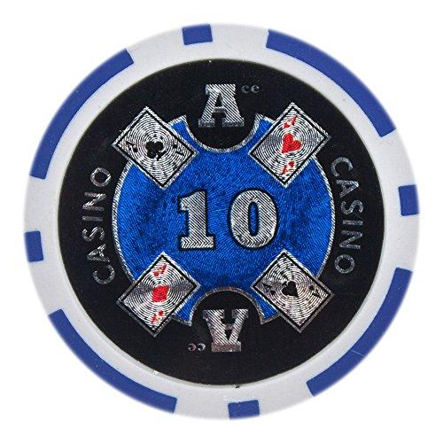 Brybelly Ace Casino Poker Chip Heavyweight 14-gram arcilla...