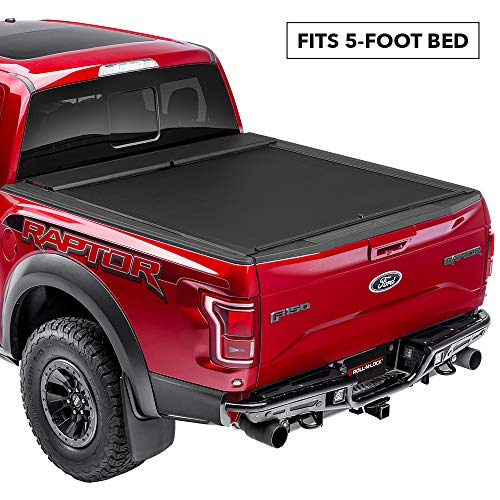 Roll N Lock M-Series Retractable Truck Bed Tonneau Cover | LG507M | Fits 2005 - 2015 Toyota Tacoma 5' Bed