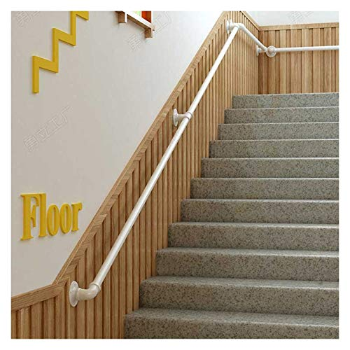 Pandrail de la escalera para las paredes, la seguridad antideslizante de la escalera de la escalera de la escalera con los soportes de las paredes de la mano de la mano y los tornillos de metal, el co