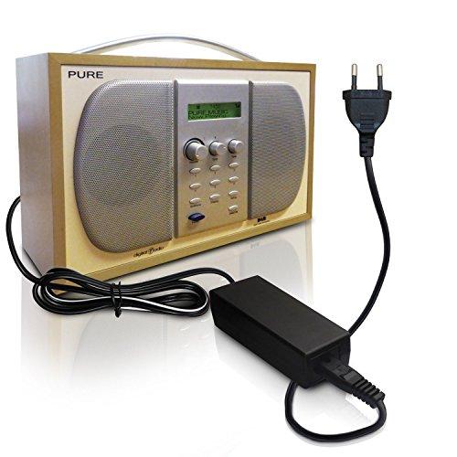 ABC Products® Ersatz Pure Akku Ladegerät, Netzteil, Netzadapter, Netzanschluss DC 9V, 9 Volt, (60986) für Evoke-1XT Versionen einschließlich Prestige und Marshall Ausgaben, Evoke-2 & XT-Versionen, ohne neueren 12v 2XT, Evoke-3 - nur 9V-Version, Evoke D4, Evoke D440 + D440BT, Tempus-1XT; Elan - alle Versionen - außer RV40 / Elan II 12v, Oasis - nicht neuer 12v Version, Chronos CD & iDock allen Versionen, Chronos Clock Radio - nicht Chronos 2, Bug & Bug 2 / zu, Sonus-1XT, Siesta iDock Digital Radio etc