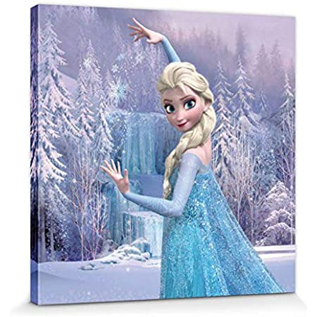 Disney Frozen Elsa Anna Olaf Kristoff XL LEINWAND BILDER WANDBILD PPD2245FW