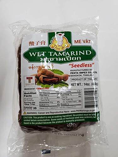 14 Ounces (1 pack) Wet Tamarind Paste Sour Tamarind Paste Seedless Tamarido Product Thailand