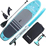 Driftsun Cruiser Inflatable Paddle Board - 10ft x 32in Board SUP Package with Accessories, Travel Backpack, Adjustable Paddle, Coil Leash and Removable Fin, Non-Slip Deck Pad, Youth & Adult ISUP