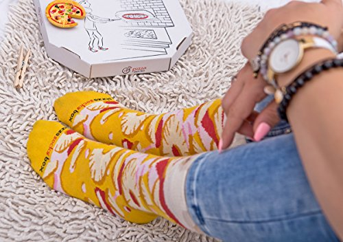 PIZZA SOCKS BOX 4 pairs MIX Hawaii Italian Pepperoni Cotton Socks Made In EU