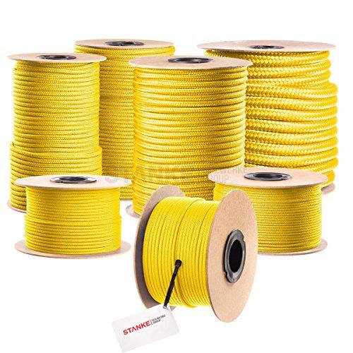 Seilwerk STANKE PP Seil Polypropylen Seil geflochten 50m 6mm GELB Universal Seil PP Schnüre Outdoor Seil Springseil